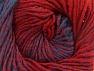 Fiber Content 75% Premium Acrylic, 25% Wool, Red, Brand ICE, Blue, Yarn Thickness 4 Medium  Worsted, Afghan, Aran, fnt2-61021