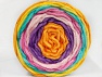 Fiber Content 100% Acrylic, Yellow, Pink Shades, Orange, Mint Green, Lilac, Brand ICE, Yarn Thickness 4 Medium  Worsted, Afghan, Aran, fnt2-61169