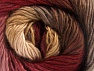 This is a self-striping yarn. Please see package photo for the color combination. Fiber Content 100% Premium Acrylic, Pink Shades, Brand ICE, Brown Shades, fnt2-62899