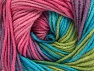 Fiber Content 55% Cotton, 45% Acrylic, Turquoise, Pink, Lilac, Brand ICE, Green Shades, Yarn Thickness 3 Light  DK, Light, Worsted, fnt2-63090