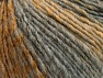 Fiber Content 70% Acrylic, 30% Wool, Brand ICE, Grey Shades, Gold, fnt2-64138