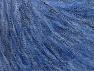 Fiber Content 30% Acrylic, 30% Polyester, 25% Wool, 15% Metallic Lurex, Jeans Blue, Brand ICE, fnt2-64182
