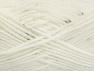 Vezelgehalte 98% Acryl, 2% Pailetten, White, Brand ICE, fnt2-64443
