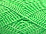 Fiber Content 80% Cotton, 20% Acrylic, Neon Green, Brand Ice Yarns, fnt2-64557