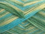 Fiber Content 70% Polyamide, 19% Wool, 11% Acrylic, Turquoise Shades, Light Yellow, Brand Ice Yarns, fnt2-64589