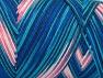 Fiber Content 100% Acrylic, White, Turquoise, Salmon, Navy, Brand Ice Yarns, fnt2-64644