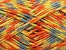 Fiber Content 60% Acrylic, 40% Wool, Yellow, Orange, Light Blue, Brand Ice Yarns, Green, fnt2-64803