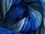 Fiber Content 50% Wool, 50% Acrylic, Brand Ice Yarns, Blue Shades, fnt2-65179