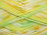 Fiber Content 65% Premium Acrylic, 35% Polyamide, Yellow, White, Brand Ice Yarns, Green Shades, fnt2-65208