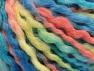 Fiber Content 60% Acrylic, 30% Wool, 10% Mohair, Turquoise, Salmon, Light Yellow, Brand Ice Yarns, Blue, fnt2-65260