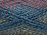 Fiber Content 50% Wool, 50% Premium Acrylic, Salmon, Indigo Blue, Brand Ice Yarns, Gold, fnt2-65276