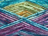 Fiber Content 50% Premium Acrylic, 50% Wool, Turquoise, Purple, Brand Ice Yarns, Green, Gold, Fuchsia, fnt2-65286