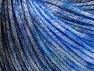 Fiber Content 62% Polyester, 19% Merino Wool, 19% Acrylic, Brand Ice Yarns, Blue, Black, fnt2-65326