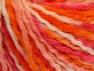 Wool  Fiber Content 60% Wool, 40% Acrylic, White, Pink, Orange, Light Salmon, Brand Ice Yarns, fnt2-65360