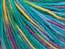 Fiber Content 50% Wool, 50% Acrylic, Yellow, Purple, Brand Ice Yarns, Green, Blue, fnt2-65483