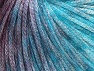 Fiber Content 62% Polyester, 19% Merino Wool, 19% Acrylic, Turquoise Shades, Maroon, Brand Ice Yarns, Yarn Thickness 4 Medium  Worsted, Afghan, Aran, fnt2-65503