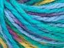 Vezelgehalte 50% Acryl, 50% Wol, Turquoise Shades, Purple, Light Green, Brand Ice Yarns, Yarn Thickness 4 Medium  Worsted, Afghan, Aran, fnt2-65654