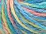 Vezelgehalte 50% Acryl, 50% Wol, Turquoise Shades, Light Salmon, Light Green, Brand Ice Yarns, Yarn Thickness 4 Medium  Worsted, Afghan, Aran, fnt2-65659