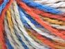 Vezelgehalte 50% Wol, 50% Acryl, Orange, Brand Ice Yarns, Gold, Blue Shades, Yarn Thickness 4 Medium  Worsted, Afghan, Aran, fnt2-65660
