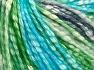 Fiber Content 77% Cotton, 23% Acrylic, Turquoise, Navy, Brand Ice Yarns, Green, Cream, Yarn Thickness 4 Medium  Worsted, Afghan, Aran, fnt2-65705
