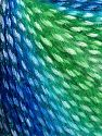 Fiber Content 40% Polyamide, 35% Acrylic, 15% Mohair, 10% Metallic Lurex, Brand Ice Yarns, Green Shades, Blue Shades, fnt2-65805