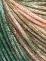 Fiber Content 50% Modal, 35% Acrylic, 15% Wool, Salmon Shades, Brand Ice Yarns, Green Shades, fnt2-65851