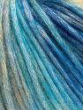 Contenido de fibra 50% Modal, 35% Acrílico, 15% Lana, Turquoise Shades, Brand Ice Yarns, Cream Shades, fnt2-65854