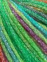 Fiber Content 40% Acrylic, 30% Metallic Lurex, 30% Wool, Turquoise, Purple, Brand Ice Yarns, Green Shades, Fuchsia, fnt2-65933