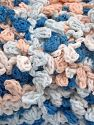 Fiber Content 50% Polyamide, 50% Acrylic, White, Light Salmon, Brand Ice Yarns, Blue, fnt2-65977