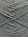 Fiber Content 94% Acrylic, 6% Metallic Lurex, Brand Ice Yarns, Grey, fnt2-66064
