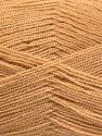 Very thin yarn. It is spinned as two threads. So you will knit as two threads. Yardage information is for only one strand. Fiber Content 100% Acrylic, Milky Brown, Brand Ice Yarns, fnt2-66132