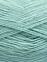 Very thin yarn. It is spinned as two threads. So you will knit as two threads. Yardage information is for only one strand. Vezelgehalte 100% Acryl, Water Green, Brand Ice Yarns, fnt2-66139