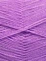 Very thin yarn. It is spinned as two threads. So you will knit as two threads. Yardage information is for only one strand. Vezelgehalte 100% Acryl, Light Lilac, Brand Ice Yarns, fnt2-66172