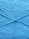 Very thin yarn. It is spinned as two threads. So you will knit as two threads. Yardage information is for only one strand. Vezelgehalte 100% Acryl, Light Blue, Brand Ice Yarns, fnt2-66182