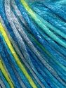 Tencel (Lyocell) is a form of rayon that consists of cellulose fiber made from beech and eucalyptus trees. Main characteristics of lyocell fibers are that they are sustainable, soft, absorbent, very strong when wet or dry, and resistant to wrinkles. Fiber Content 67% Tencel, 33% Polyamide, Turquoise Shades, Neon Green, Light Grey, Brand Ice Yarns, fnt2-66220