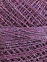 Fiber Content 70% Polyester, 30% Metallic Lurex, Brand YarnArt, Silver, Lilac, Yarn Thickness 0 Lace  Fingering Crochet Thread, fnt2-17347