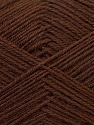 Fiber Content 60% Merino Wool, 40% Acrylic, Brand ICE, Dark Brown, Yarn Thickness 2 Fine  Sport, Baby, fnt2-21093