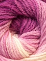 Fiber Content 100% Acrylic, White, Pink, Brand ICE, Fuchsia, Yarn Thickness 3 Light  DK, Light, Worsted, fnt2-22022