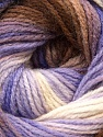 Fiber Content 100% Acrylic, White, Lilac, Brand ICE, Brown, Yarn Thickness 3 Light  DK, Light, Worsted, fnt2-22024