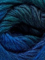 Fiber Content 40% Wool, 30% Mohair, 30% Acrylic, Brand ICE, Blue Shades, Yarn Thickness 3 Light  DK, Light, Worsted, fnt2-27202