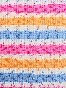 Fiber Content 100% Acrylic, White, Pink, Orange, Brand ICE, Blue, Yarn Thickness 2 Fine  Sport, Baby, fnt2-33692