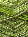 Fiber Content 70% Angora, 30% Acrylic, White, Brand ICE, Green Shades, Yarn Thickness 2 Fine  Sport, Baby, fnt2-35085