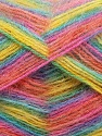 Fiber Content 70% Angora, 30% Acrylic, Yellow, Turquoise, Salmon, Pink, Lilac, Brand ICE, Yarn Thickness 2 Fine  Sport, Baby, fnt2-35093