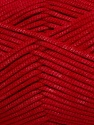 This is a tube-like yarn with soft fleece inside. Fiber Content 73% Viscose, 27% Polyester, Red, Brand ICE, Yarn Thickness 5 Bulky  Chunky, Craft, Rug, fnt2-35606