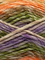 Fiber Content 75% Acrylic, 25% Wool, Orange, Lilac, Brand ICE, Green, Brown, Beige, Yarn Thickness 5 Bulky  Chunky, Craft, Rug, fnt2-40820
