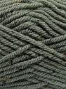 Fiber Content 72% Acrylic, 3% Viscose, 25% Wool, Brand ICE, Grey, Yarn Thickness 6 SuperBulky  Bulky, Roving, fnt2-40834