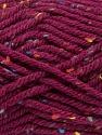 Fiber Content 72% Acrylic, 3% Viscose, 25% Wool, Brand ICE, Burgundy, Yarn Thickness 6 SuperBulky  Bulky, Roving, fnt2-40843