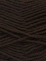 Fiber Content 70% Acrylic, 30% Wool, Brand ICE, Dark Brown, Yarn Thickness 2 Fine  Sport, Baby, fnt2-43362