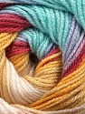 Fiber Content 100% Acrylic, Yellow, Turquoise, Brand ICE, Burgundy, Beige, Yarn Thickness 3 Light  DK, Light, Worsted, fnt2-44714