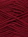 Fiber Content 55% Cotton, 45% Acrylic, Brand ICE, Burgundy, Yarn Thickness 4 Medium  Worsted, Afghan, Aran, fnt2-45146